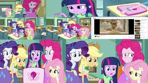 The mane five watch a video.JPG