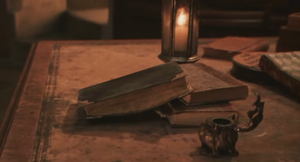 Tom Riddles diary on the table