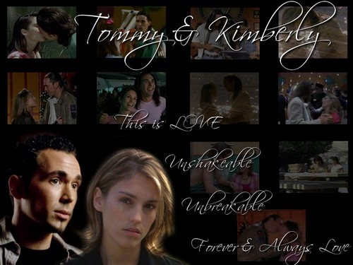 Amy Jo Johnson wallpaper titled Tommy and Kim 31