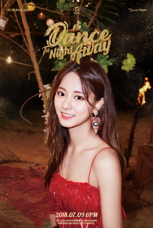 Tzuyu's teaser image for 'Dance the Night Away'