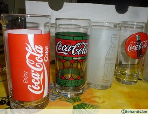 Vintage Coca Cola Drinking Glasses