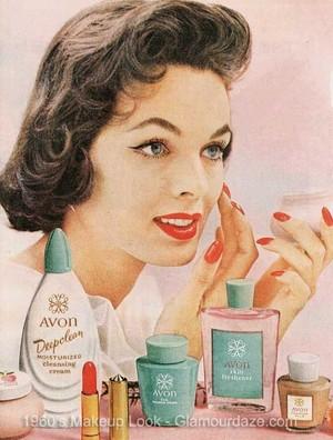 Vintage Promo Ad For Avon Cosmetics