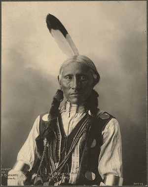 White Buffalo (Cheyenne) Photograph by F. A. Rinehart