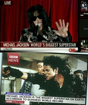 World's Biggest Superstar declaration 由 CNN and BBC