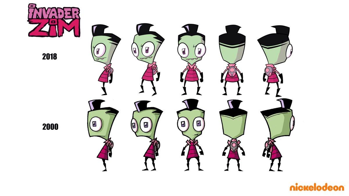 Zim Character ubunifu Evolution