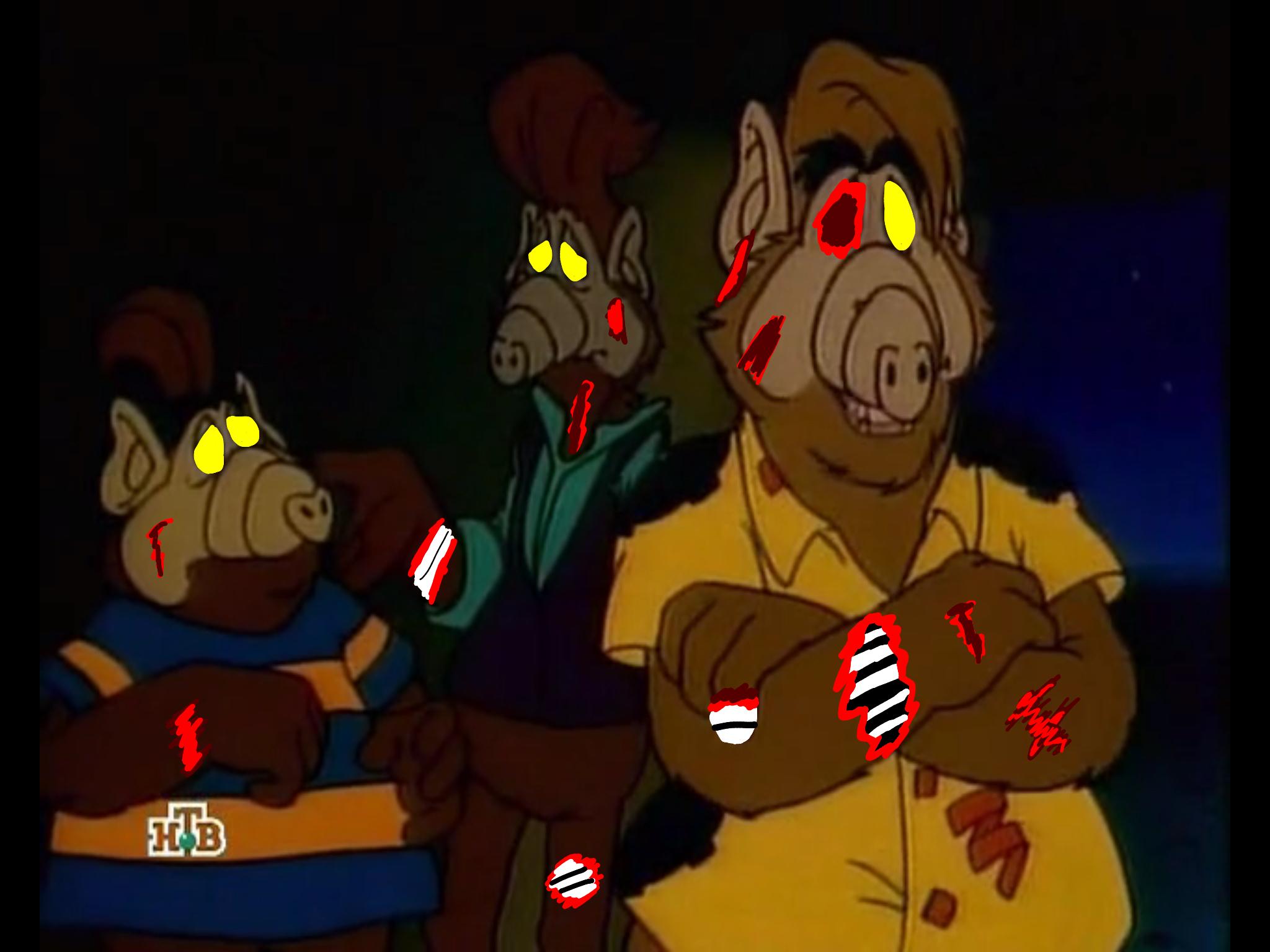 Alf Zombies Images Zombie Melmacian Trio Hd Wallpaper