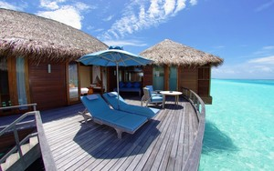 exotic overwater bungalows