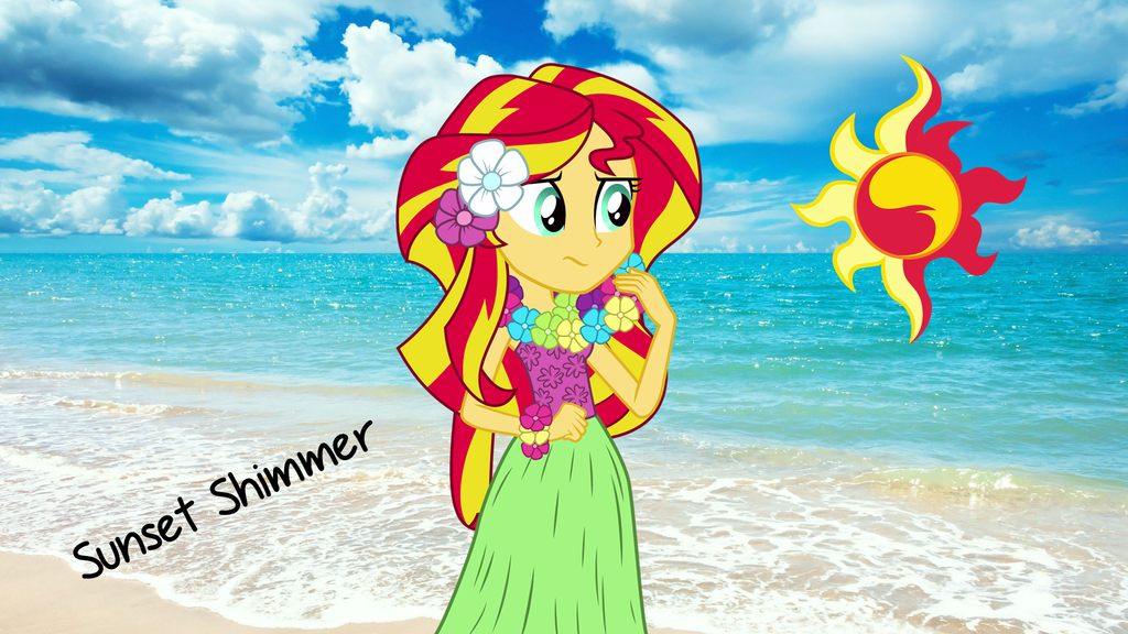 Sunset Shimmer In The Beach Wallpaper By Shahrinshuzaily1950