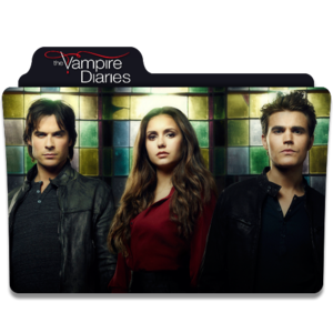 the vampire diaries tv series folder アイコン v3 によって dyiddo db2xj8l