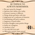 12 Things to remember ♥️