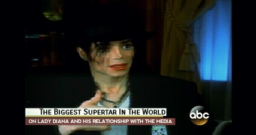 Michael Jackson karatasi la kupamba ukuta called 1997, World's Biggest Superstar Michael Jackson interviewed kwa Barbara Walters
