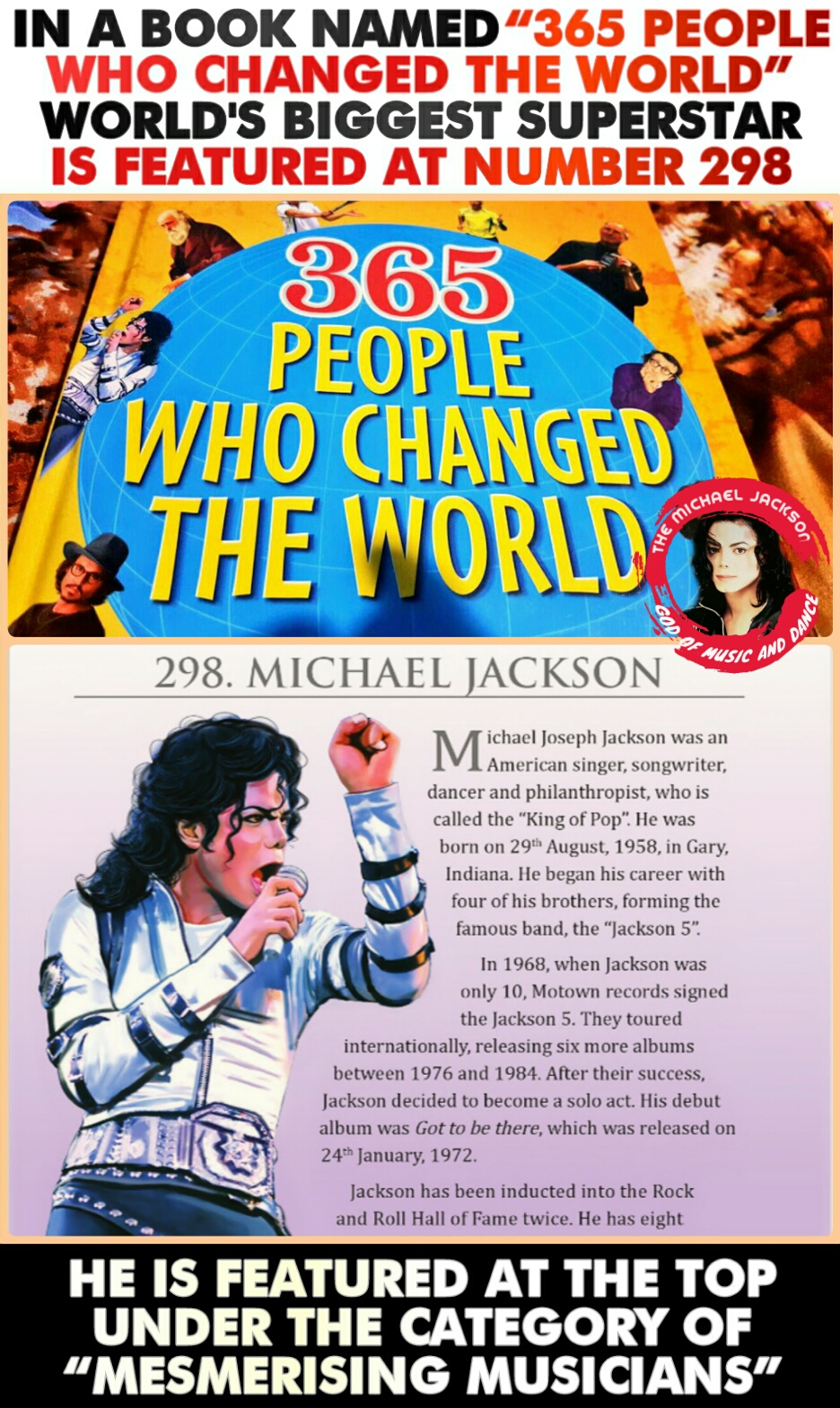 365 People Who Changed The World Featuring World's Biggest Superstar