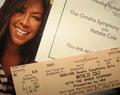 Natalie Cole konsiyerto Ticket Stub