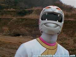 Alyssa Morphed As The White Wild Force Ranger