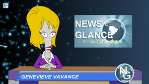 "American Dad ~ ""News Glance with Genevieve Vavance"""