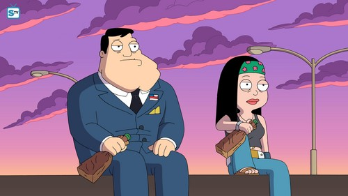 "renard dessins animés fond d'écran entitled American Dad ~ ""She Swill Survive"""