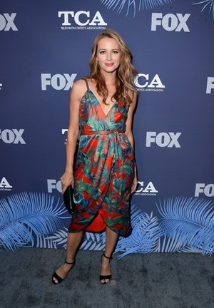 Amy Acker attends the vos, fox Summer TCA 2018 All-Star Party