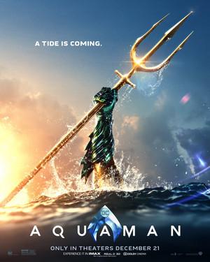 Aquaman (2018) Poster - A Tide Is Coming