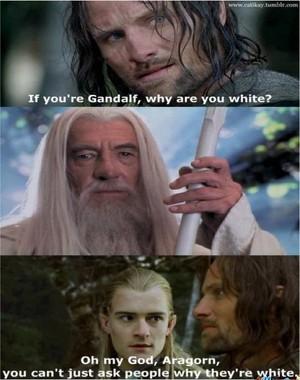 Aragorn, Legolas and Gandalf meme