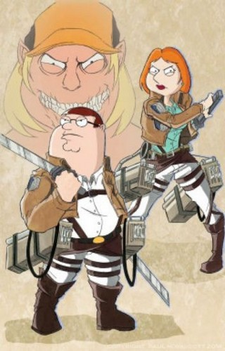 Peter Griffin Обои called Attack on Titan X Family Guy