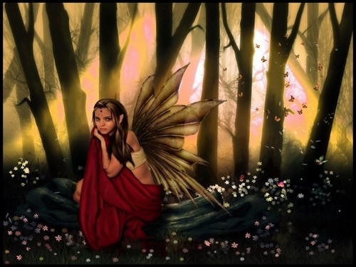 Fairies achtergrond entitled Autumn Fairy