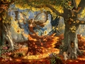 Autumn Fairy - fantasy wallpaper