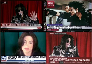 "BBC, volpe News, CNN gave MJ the titolo of ""Biggest Musical Superstar In The World"""