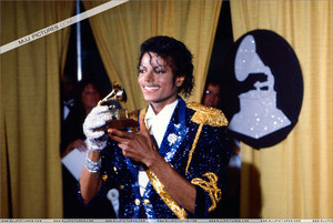 Backstage 1984 Grammy Awards