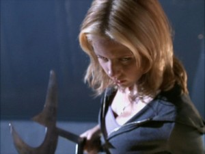Buffy with a sickle