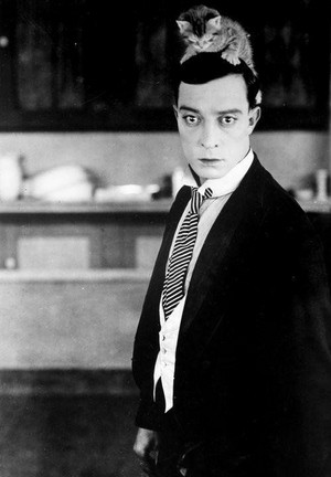 Buster Keaton And His Kitten