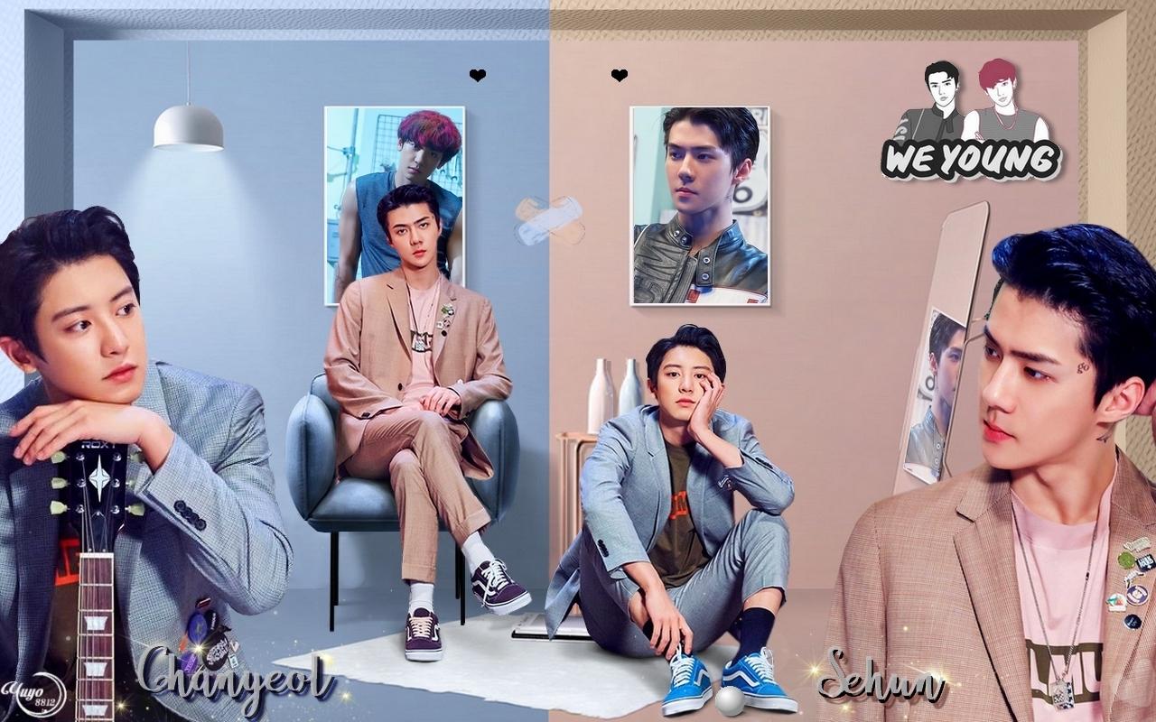 EXO_CHANYEOL X SEHUN_ WE YOUNG #WALLPAPER