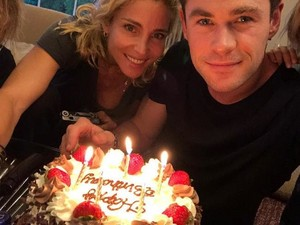Chris and Elsa celebrating his 35th birthday