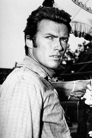 Clint on the set of Rawhide (1962)