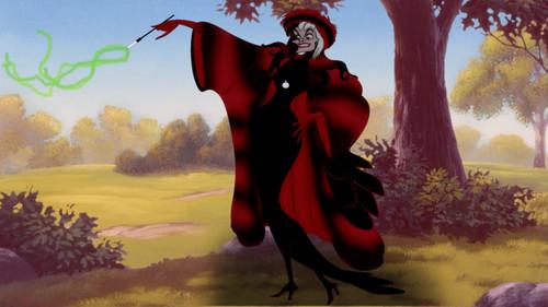 Cruella DeVil achtergrond called Cruella De Vil's Red Outfit
