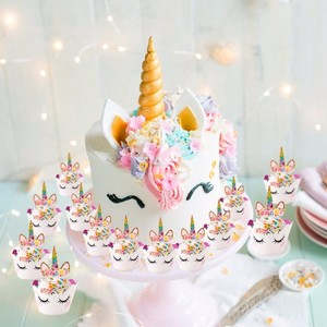 Cute Unicorn Cake Topper roze Unicorn Party