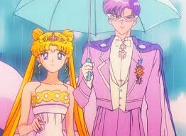 Darien and Serena as King Endymion and Neo Queen Serenity