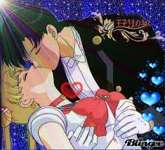 Darien and Serena as Tuxedo Mask and Sailor Moon