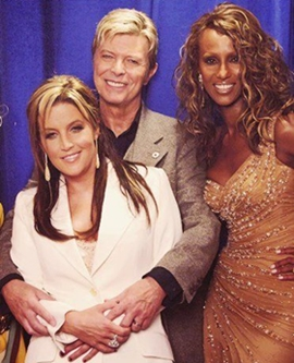 Lisa Marie With David Bowie And Iman