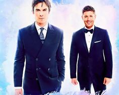 Dean Winchester and Damon Salvatore