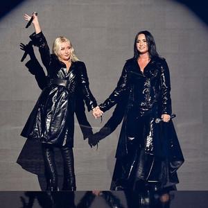 Demi and Cristina Aguilera