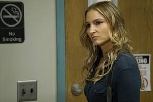 "Drea de Matteo as Tess Nazario in Shades of Blue: ""Equal and Opposite"""