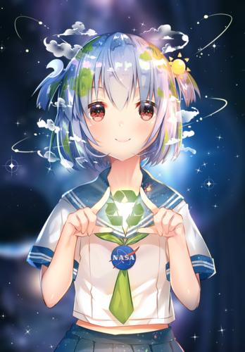 Keep Earth Green پیپر وال entitled Earth-Chan