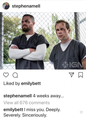 Emily comments on Stephen's photo - stephen-amell-and-emily-bett-rickards photo