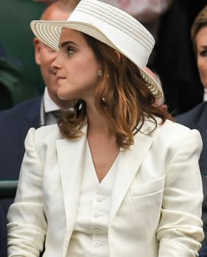 Emma Watson at Wimbledon in Londres [July 14, 2018]