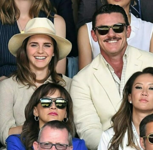 Emma Watson at Wimbledon in London with Luke Evans [July 15, 2018]