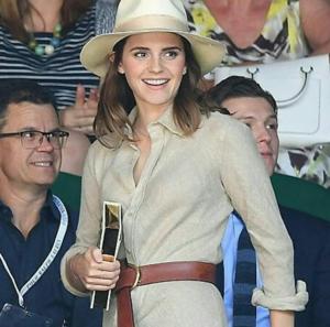 Emma Watson at Wimbledon in Лондон with Luke Evans [July 15, 2018]