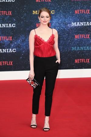 Emma at the Maniac premiere