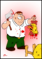 Epic Chicken Fight - peter-griffin fan art