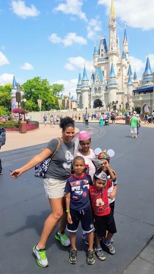 Family Visiting Magic Kingdom