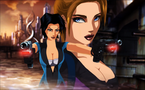 テレビゲーム 壁紙 entitled Fear Effect Games
